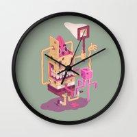 spongebob Wall Clocks featuring Spongebob by Mike Wrobel