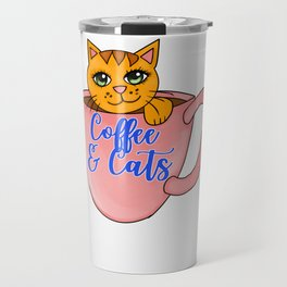 Coffee and cats Travel Mug