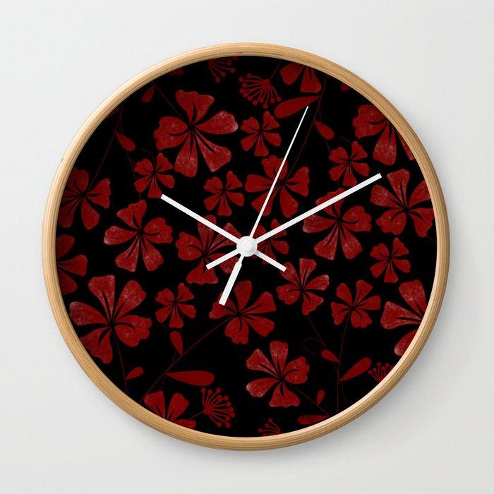 Flower..7 Wall Clock