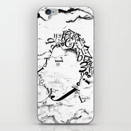 Typeface distressed iPhone Skin