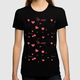 Valentine's day elements pattern T-shirt