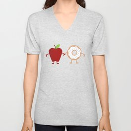 Apple Donuts Unisex V-Neck