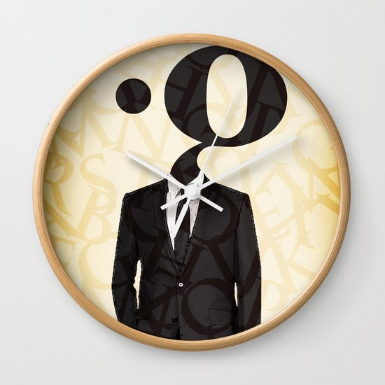 mr .g in a suit Wall Clock