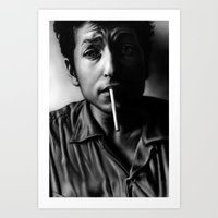 dylan Art Prints featuring Dylan by Susa Diaz