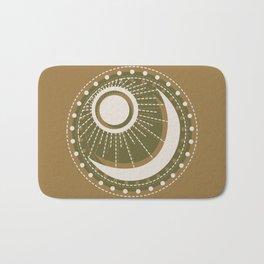 Moonlit Love - Mid Century Modern Gold Bath Mat