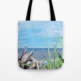 Through Grass and Driftwood Tote Bag