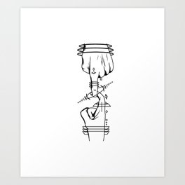 Fingerhook instructions Art Print