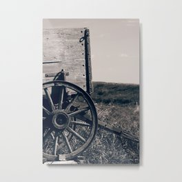 Antique Wooden Wagon Metal Print
