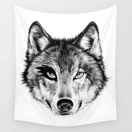 The Wolf Next Door Wall Tapestry