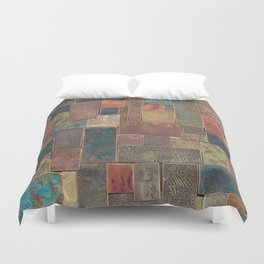Etched Patina Patchwork Duvet Cover