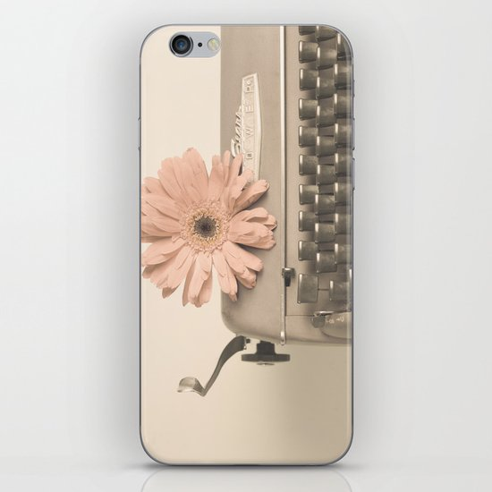 Soft Typewriter (Retro and Vintage Still Life Photography) iPhone & iPod Skin