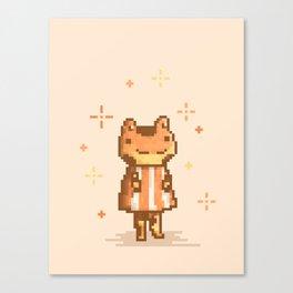 Frog Animal Villager   Pixel art Canvas Print