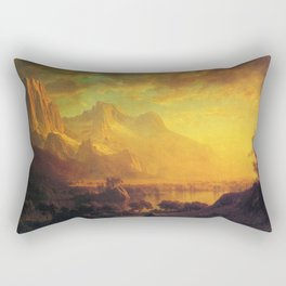 Wind River Wyoming By Albert Bierstadt | Reproduction Painting Rectangular Pillow