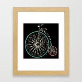 Cycling Forever | Penny Farthing High Wheel Framed Art Print