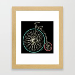 Cycling Forever | Penny Farthing High Wheel Framed Art Print