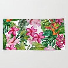 Tropical Garden 3 Beach Towel
