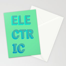Electric - Typography Stationery Cards