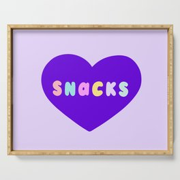Love Snacks in Lilac Serving Tray