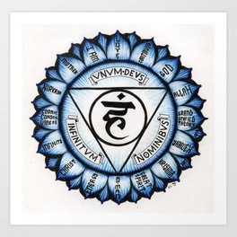 Throat Chakra (English Version) Art Print