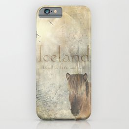 Iceland, forged by fire and ice iPhone Case