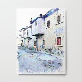 Camerata Nuova: gray buildings Metal Print