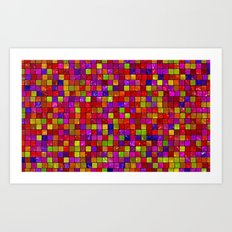Colorful Tiles Art Print