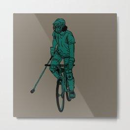 Bike polo Metal Print