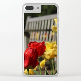 Red & Yellow Tulips Clear iPhone Case