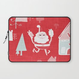 Santa is in Town Red #Holiday #Christmas Laptop Sleeve