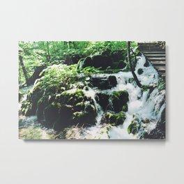 Croatian Waterfall Metal Print