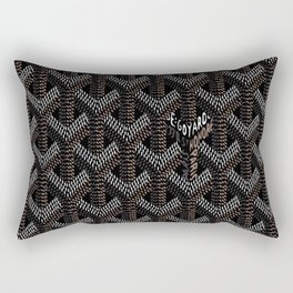 Goyard Black Rectangular Pillow