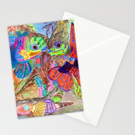 Mandarin Fishes in love Stationery Cards