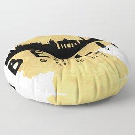 BERLIN GERMANY SILHOUETTE SKYLINE MAP ART Floor Pillow