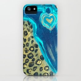 Florida Teal Love iPhone Case