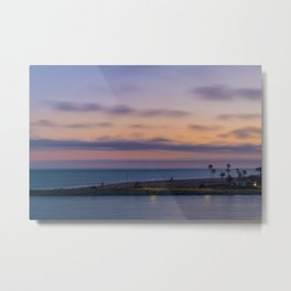 Pastel Wedge Sunset Metal Print