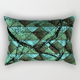 Distressed geometric pattern Rectangular Pillow