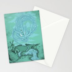 The River's Fierce Ascension Stationery Cards
