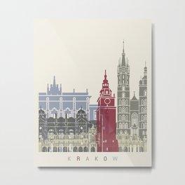 Krakow skyline poster Metal Print