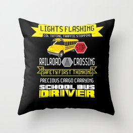 School Bus Driver - Gift Throw Pillow