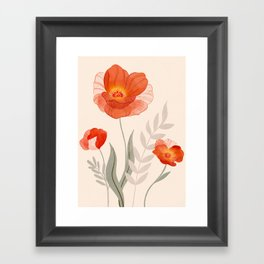 Summer Flowers II Framed Art Print