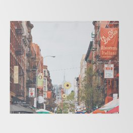 Mulberry Street Little Italy Throw Blanket