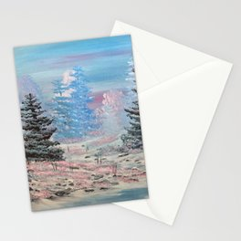 Winter calm-along the creek Stationery Cards
