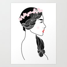 Cherry Blossom Girl. Art Print