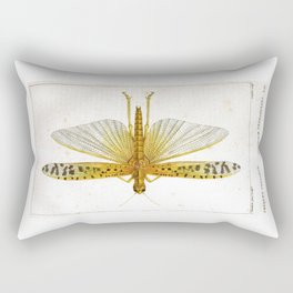 Vintage Dragonfly, Antique dragonfly, dragonfly, Insect, Natural Science Illustration, Natural Histo Rectangular Pillow