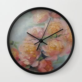The Bouquet of Peonies Wall Clock