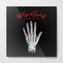 Manu et Corde Medicus Metal Print