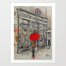 SHAKESPEARE and CO Art Print