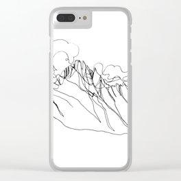 Alpha - Single Line Clear iPhone Case