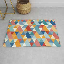 Colorful Geometry IV Rug