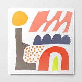 Abstrakte Formen 002 Metal Print